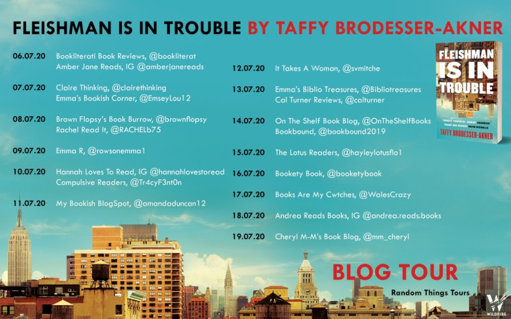 Fleishman is in Trouble blog tour poster